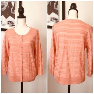 NWOT! NY & CO CORAL BUTTON FRONT CARDIGAN SWEATER